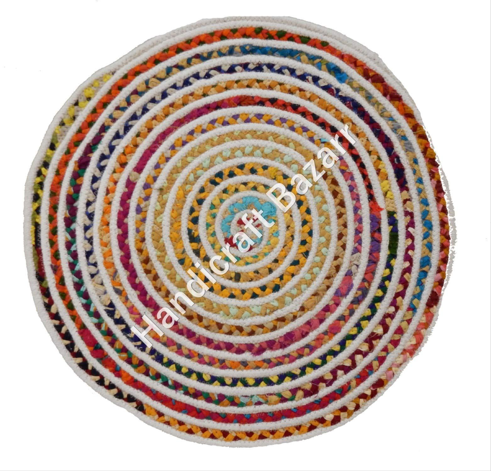 Handicraft Bazarr - Juego de 5 Alfombrillas Redondas de Yute de ...