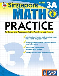 Singapore Math – Level 3A Math Practice Workbook for 4th Grade, Paperback, Ages 9–10 with Answer Key
