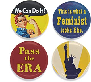 Buttonsmith Feminist Magnet Set - Set of 4 1.25