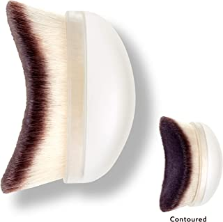 Handcrafted Highlighting, Contouring & Buffing Palm Brush for Face & Body – UNDONE BEAUTY Seamless Brush. For Cream & Powder Foundation, Bronzer & Blush. Soft & Durable Bristles. Vegan & Cruelty Free.