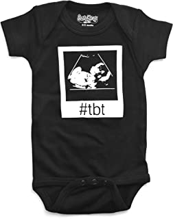 Sara Kety Funny Baby Romper Bodysuit Throwback Thursday Ultrasound for Newborn Girls and Boys