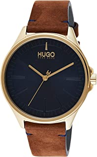 Hugo Boss Men's Blue Dial Brown Leather Watch - 1530134