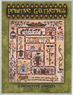 A Primitive Garden B.O.M. Block of the Month Felted Wool Pattern - 70