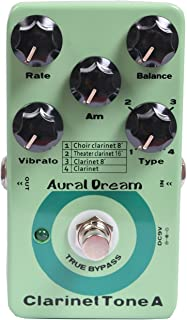 Aural Dream Clarinet Tone A Synthesizer Guitar Effects Pedal based on Organ including choir clarinet 8',clarinet 8',theater clarinet 16' and clarinet with vibrato module control