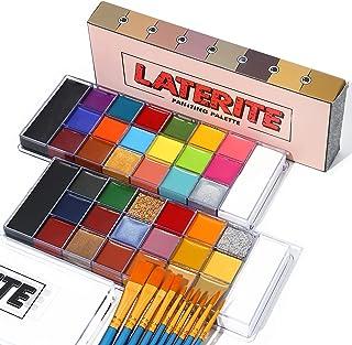 UCANBEFaceBodyPaintOilPaletteSet-2x20Colorswith10Blue PaintBrushesMakeup KitforHalloweenCosplaySpecial...