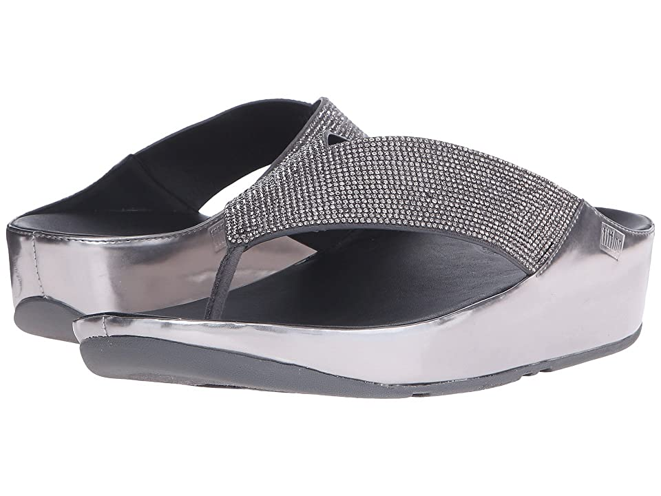 FitFlop Crystall Toe Post (Pewter) Women