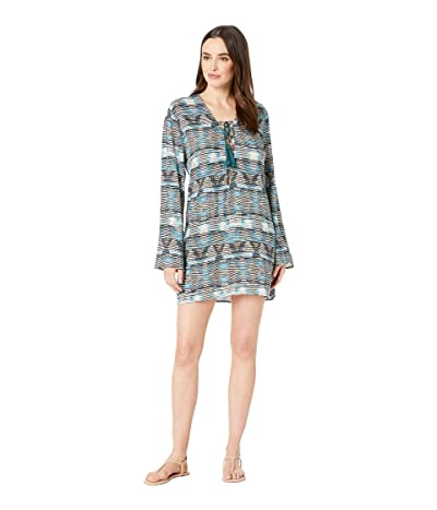 La Blanca Re-Fresh Lace Front Tunic Cover-Up (Blue) Women