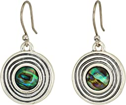 Lucky Brand Set Stone Drop Earrings