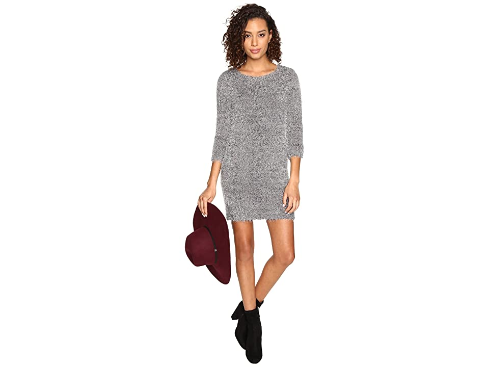 Jack by BB Dakota Laurentia Eyelash Sweater Dress (Dark Charcoal) Women