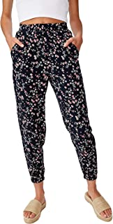 Cotton On Women's Casual Pants, Millie Floral Eclipse