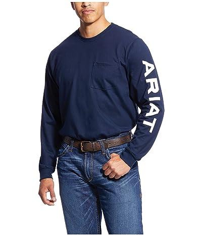 Ariat FR Pocketed Logo T-Shirt (Navy) Men