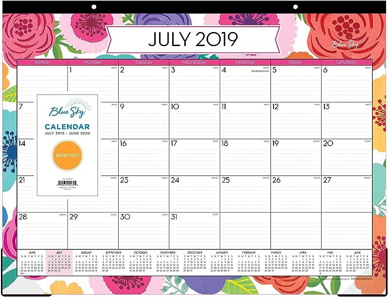 Blue Sky 2019 2020 Academic Year Monthly Desk Pad Calendar Ruled Blocks 22 X 17 Mahalo