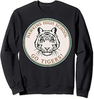 Netflix Stranger Things Hawkins High School Go Tigers Logo Sweatshirt