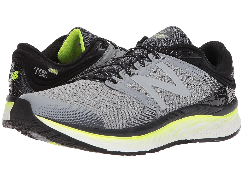 (ニューバランス) New Balance メンズランニングシューズ?スニーカー?靴 Fresh Foam 1080v8 Steel/Black/Hi-Lite 8 (26cm) 4E - Extra Wide