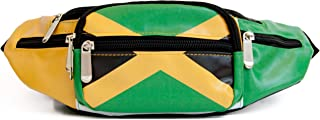 OOtees Jamaica Flag Waist Pack Bag Fanny Pack for Men and Women Trendy Crossbody Bum Bag with Adjustable Strap
