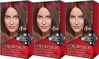 Revlon Colorsilk Beautiful Color, Deep Rich Brown, 3 Count