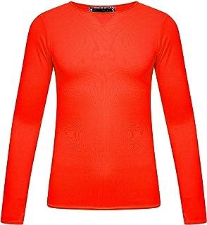 02b2810d918f Kaaya Childrens Girls Boys Plain Long Sleeve Kids Top T-Shirt School Summer  T-