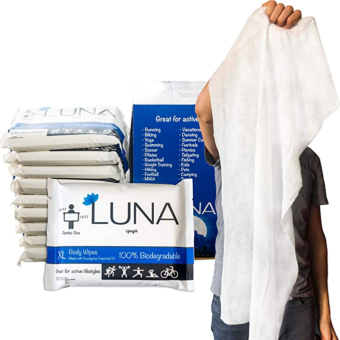 XL Cleansing Body Wipes - All Natural