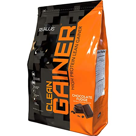 Rivalus Clean Gainer - Chocolate Fudge 10 Pound - Delicious Lean Mass Gainer with Premium Dairy Proteins, Complex Carbohydrates, and Quality Lipids, No Banned Substances, Made in USA