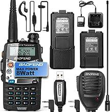 BaoFeng UV-5R 8W Ham Radio Walkie Talkie Dual Band 2-Way Radio with an Extra 3800mAh Battery Handheld Walkie Talkies with ...