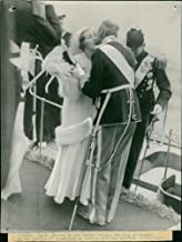 Vintage photo of Wedding of King Frederik IX of Denmark and Princess Ingrid of Sweden.