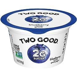 TWO GOOD Greek Yogurt, 2g of sugar, Blueberry, 5.3 oz