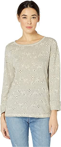 Eyelet Stripe Top