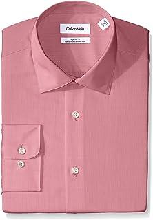 Calvin Klein Men's Regular Fit Non Iron Herringbone Spread Collar Dress Shirt