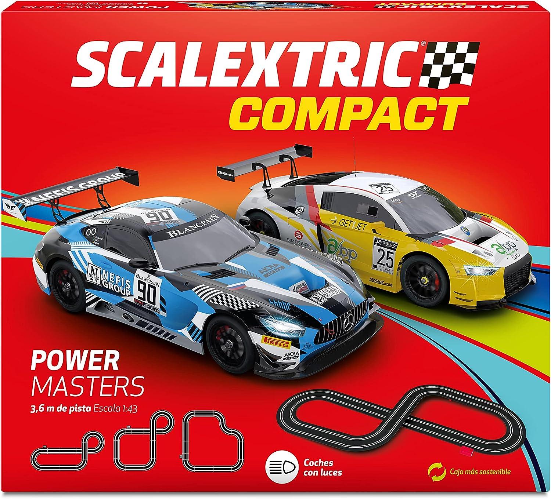 Scalextric- Power Masters Pista-Circuito, Multicolor (Scale Competition Xtreme.SL 1)