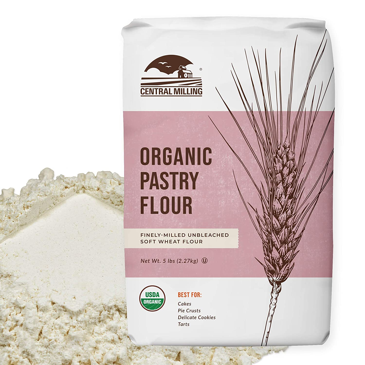 100% Organic Fashionable Pastry Flour - 00 for Genuine Pounds 5 Baking-