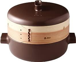 JIA Inc. Steamer Set - Extra Large Set (Ceramic Steamer Pot and Lid + Cedar Wood Basket)