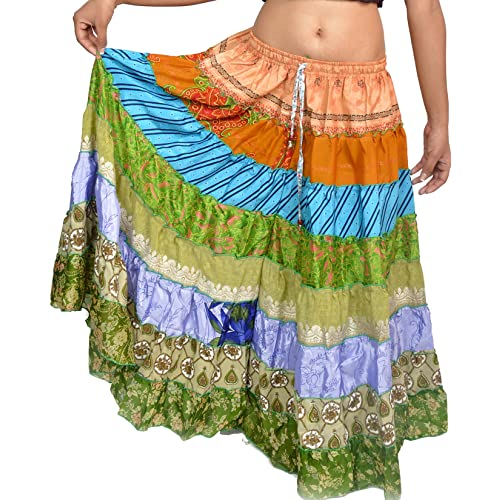 a6851c600b003 Wevez Women s Pack of 3 Tribal Style 7-Layer Skirt