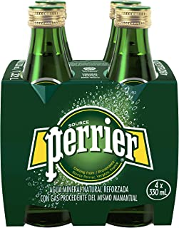 Perrier Sparkling Natural Mineral Water, 4 x 330ml