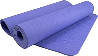 """YOGAROO Australia Eco Friendly Non Slip Yoga Mat, SGS Certified TPE Material - Textured Non Slip Surface and Optimal Cushioning, 72""""x 25"""" Thickness 1/4"""" (6mm)"""