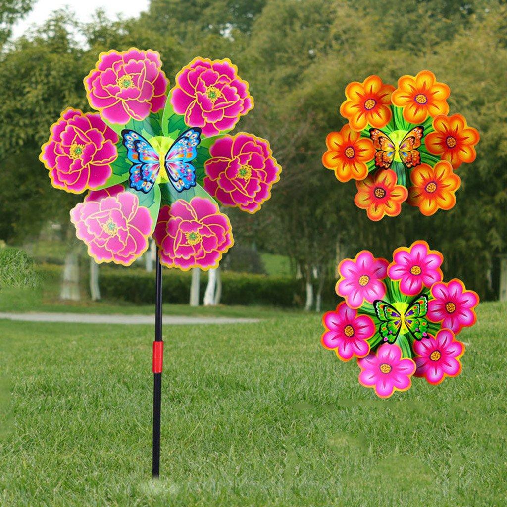 Yifeicx Flor Molino Viento Spinner Pinwhere Casa Jardin Jardin Decoracion Kids Juguetes Nuevos: Amazon.es: Jardín