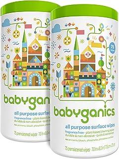Toallitas de superficie BabyGanics para uso general, sin olor, el embalaje puede variar., SYNCHKG068528, 1, 1