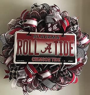 Crimson Tide, Football Wreath, Alabama, Front Door Wreath, Sports Wreath, Roll Tide, College Wreath