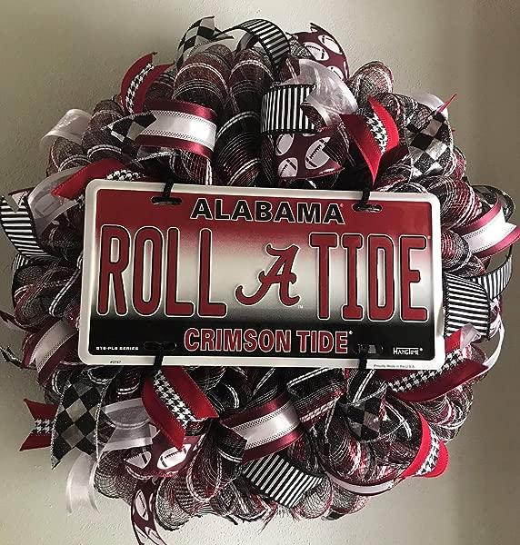 Crimson Tide Football Wreath Alabama Front Door Wreath Sports Wreath Roll Tide College Wreath