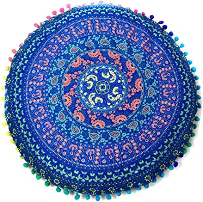 Amazon.com: Mandala Life ART Yoga Decor Floor Cushion Cover ...