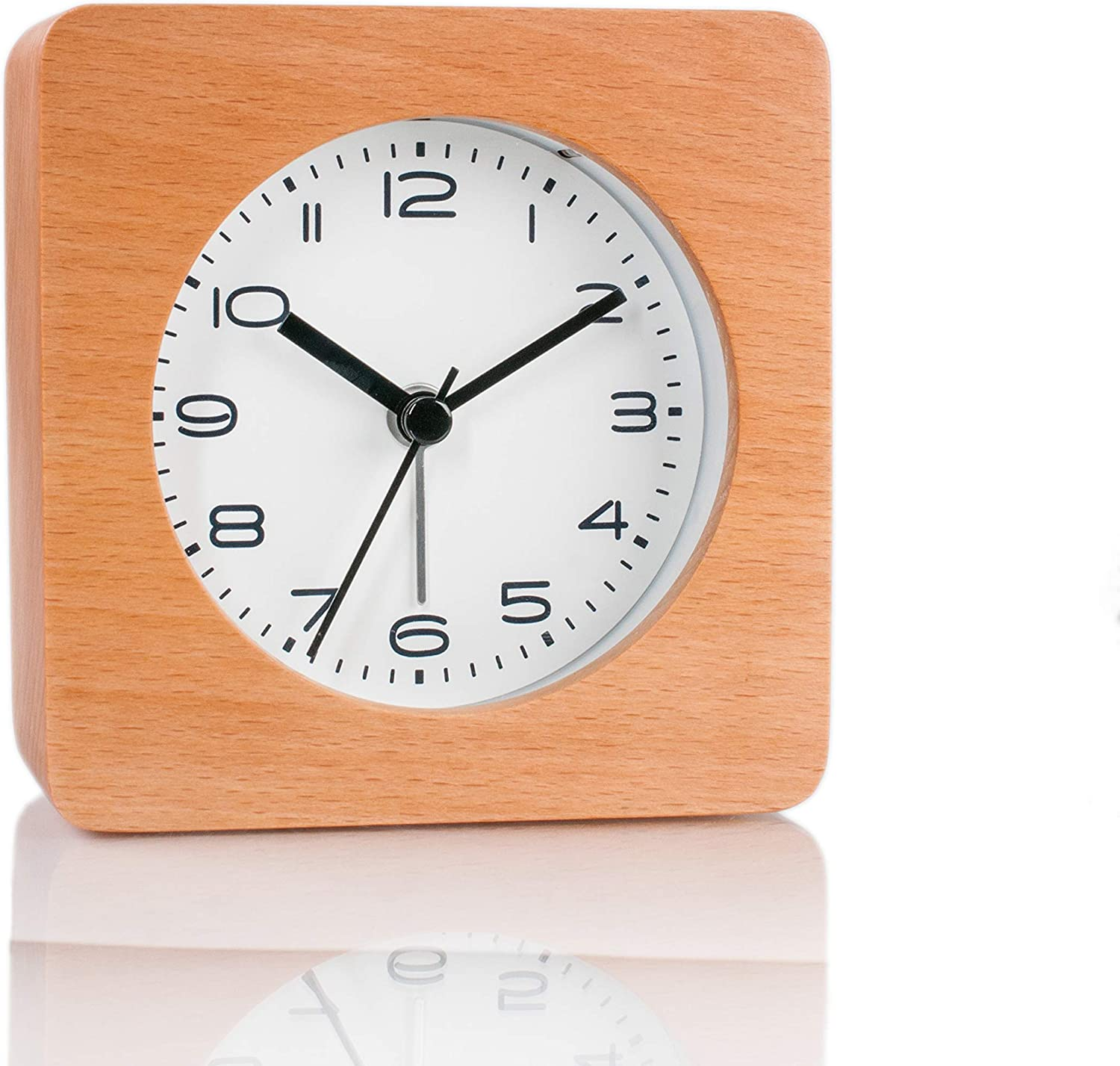 Courier shipping free shipping Artinova Fees free Wooden Alarm Clock Outlook Square Hand Classic