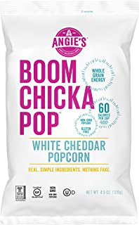 Angie's BOOMCHICKAPOP White Cheddar Popcorn, 4.5 Ounce Bag