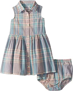 Ralph Lauren Baby - Madras Shirtdress & Bloomer (Infant)