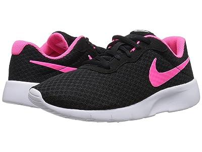 Nike Kids Tanjun (Big Kid) (Black/White/Hyper Pink) Girls Shoes