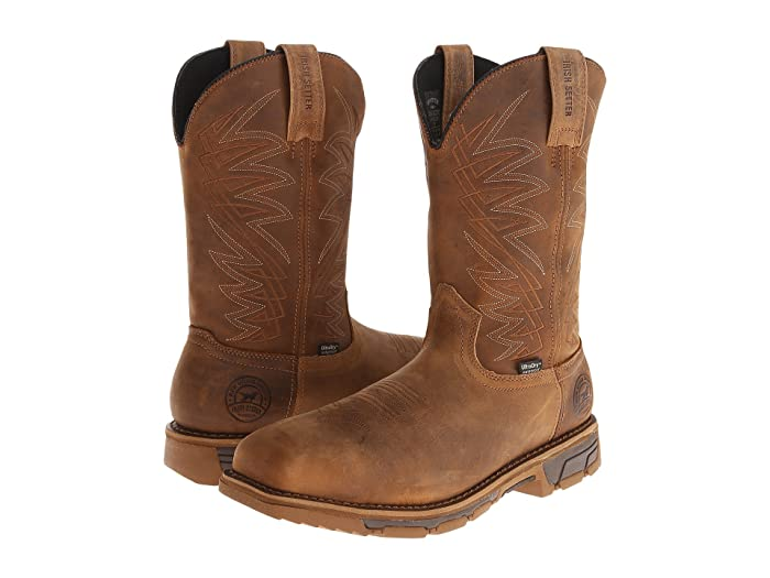 Irish Setter  Marshall (Brown Leather) Mens Work Pull-on Boots