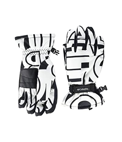 Columbia Kids Coretm Glove (Big Kids) (White Typo Print) Extreme Cold Weather Gloves