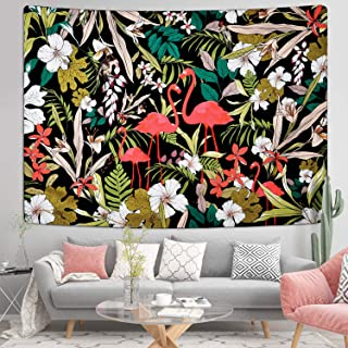 Floral Plants Tapestry Flamingo Tapestries Animal Flowers Tapestry Tropical Leaves Tapestry Nature Scenery Tapestry Wall H...