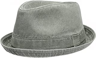 Men's Casual Vintage Style Washed Cotton Fedora Hat