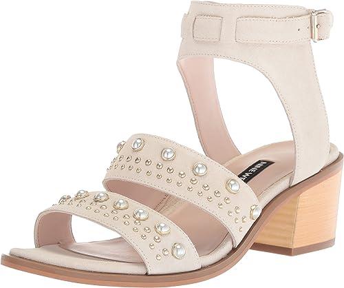 Nine West Damen Damen Damen Richgal Suede Sandalen mit Absatz  für Ihren Spielstil zu den günstigsten Preisen