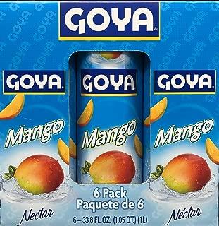 Goya Mango Nectar - 33.8 fl.oz - Pack of 6 - Value Pack!