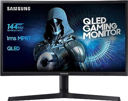 """Samsung C24FG73 Monitor Curvo VA da Gaming, 24"""" Full HD, 1920 x 1080, 144 Hz, 1 ms, FreeSync, DP, HDMI, 16.7M di Colori, sRGB 125%, Game Mode, Quantum Dot, Base a Doppio Snodo Nero - Confronta prezzi"""